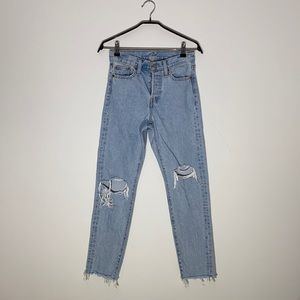 Levi's Light Wash High Rise Jeans